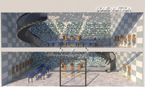 Louis Vuitton space planning  | Sheridan College <br/><i>Sa Eun Song</i>