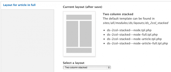 Configuring Layouts with Display Suite in Drupal 7 - WebWash