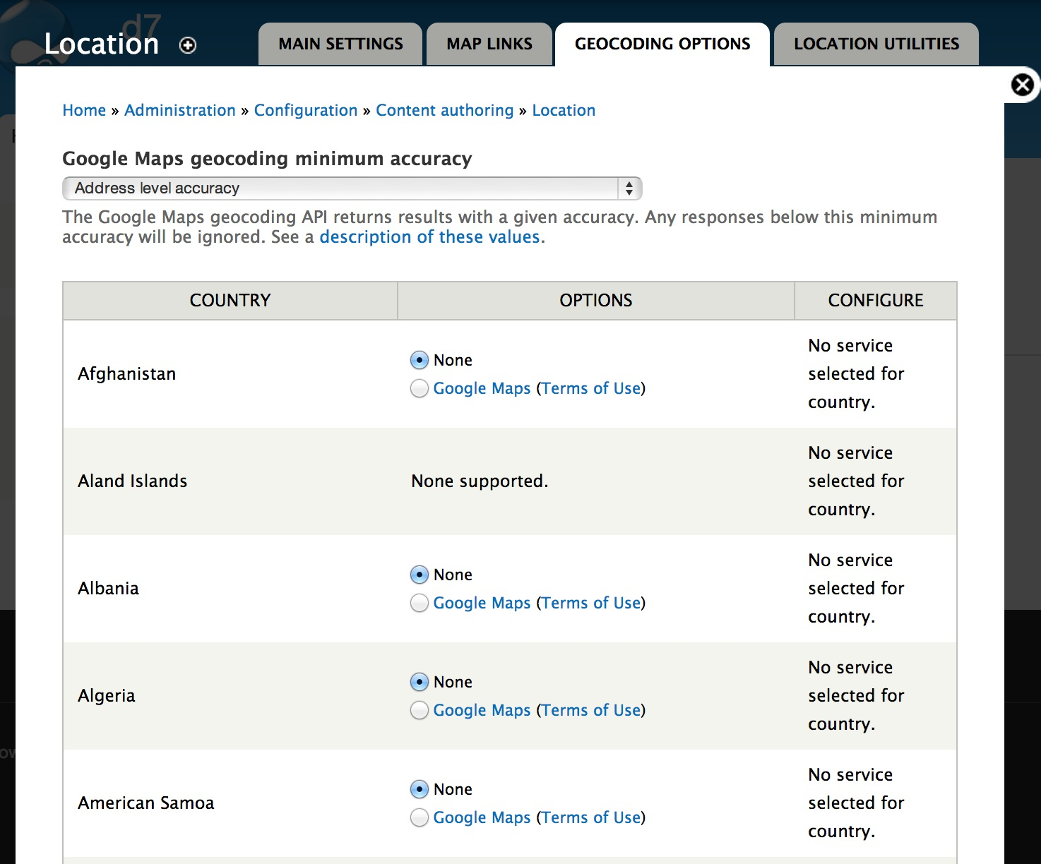 how to store addresses in drupal 7 using location module webwash