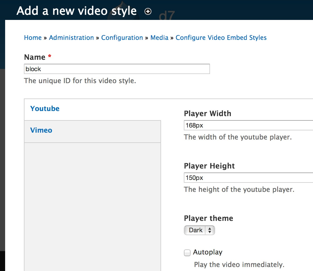 How to Manage Video Styles using Video Embed Field Module in Drupal