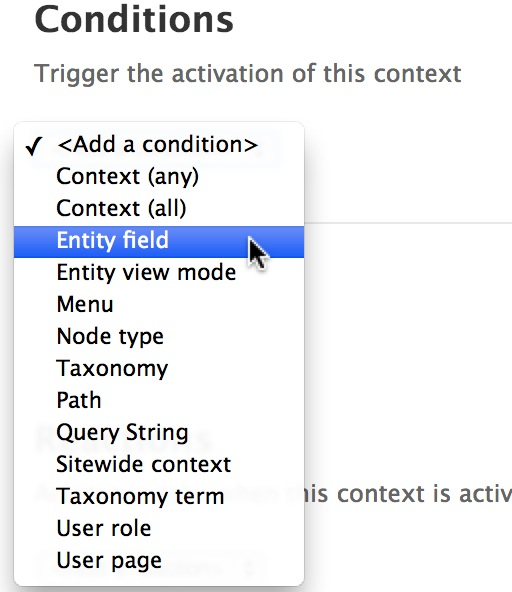 Control Context Using Context Entity Field in Drupal 7 - WebWash
