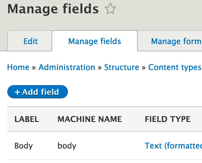 Build a Blog in Drupal 8: Content types and Fields - WebWash
