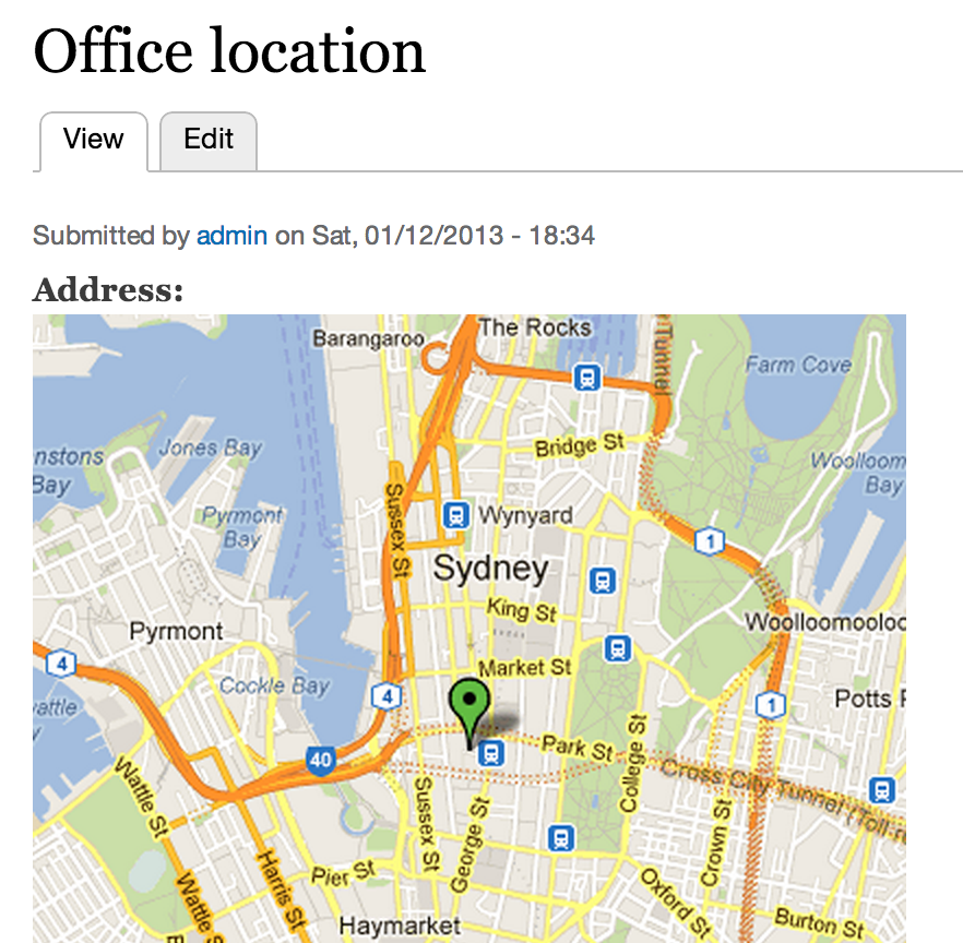 Map With Addresses Using Address Field Static Map Module In Drupal 7   WebWash Map With Addresses