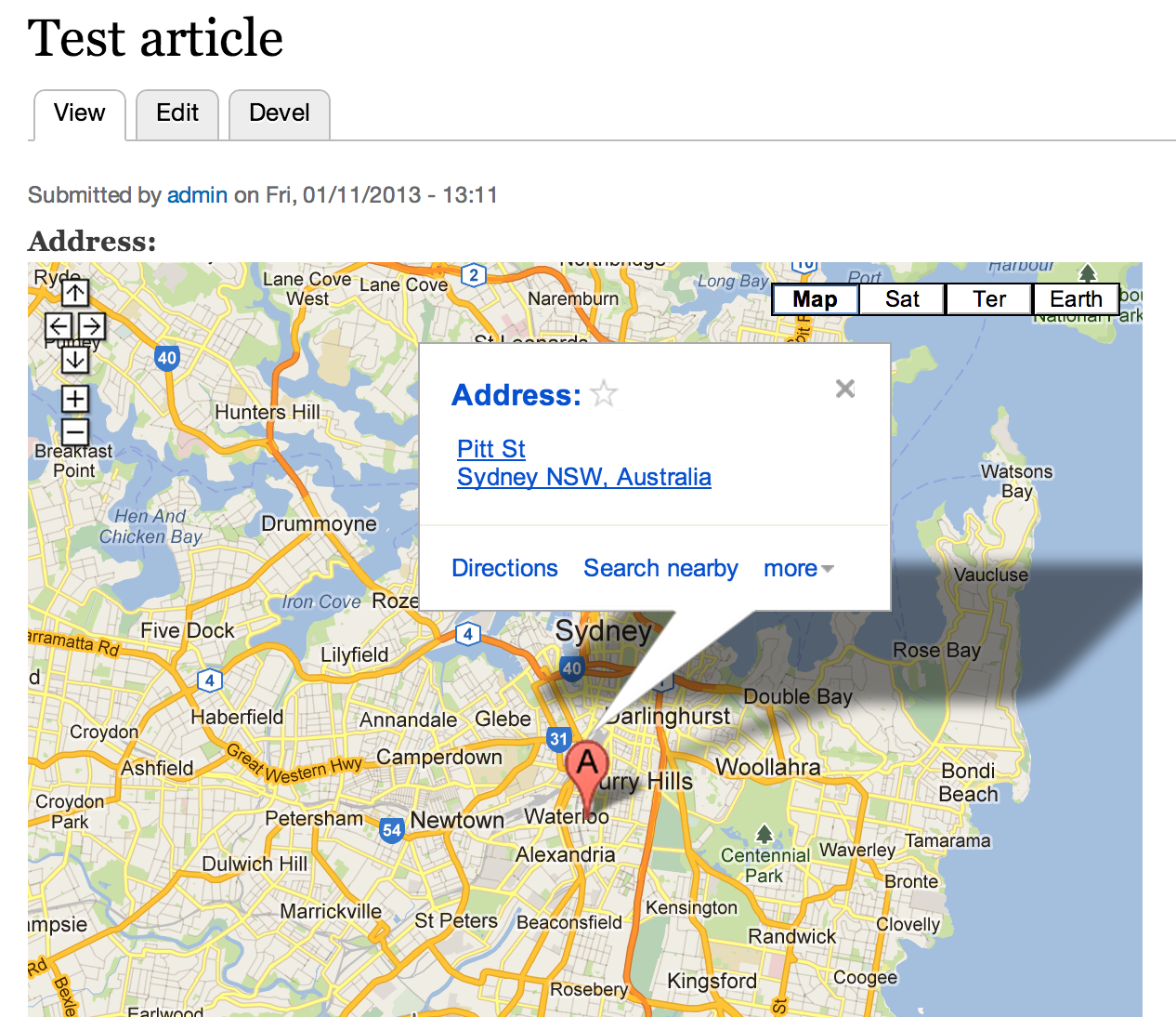 Using Simple Google Maps Module In Drupal 7 - WebWash