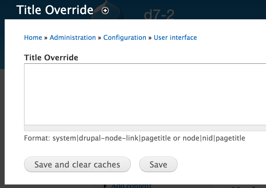 Control Page Titles with Title Override in Drupal 7 - WebWash