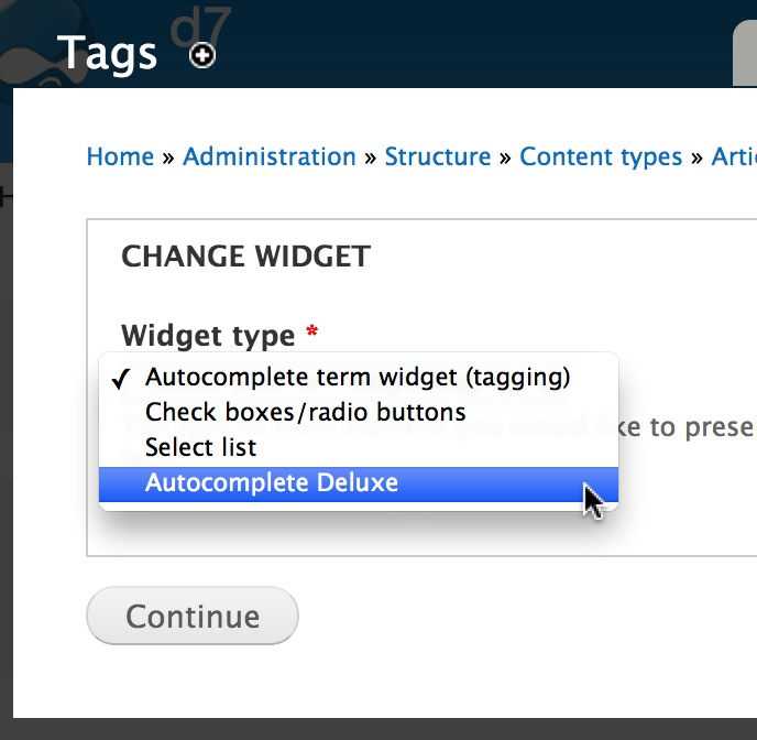 Select Terms Using Autocomplete Deluxe Module - WebWash