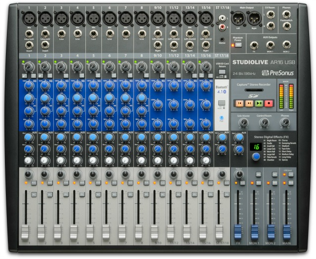 PreSonus Ships Musician's Recording Mixers