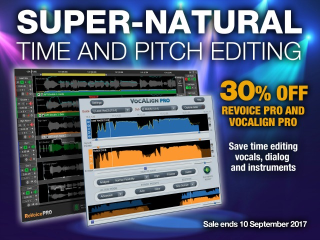 30 Percent Off Revoice Pro and VocAlign Pro