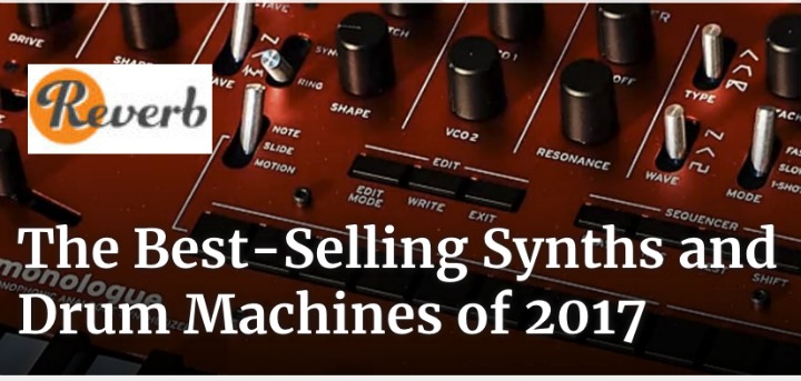 Reverb.com Publish Synth Sales Charts for 2017