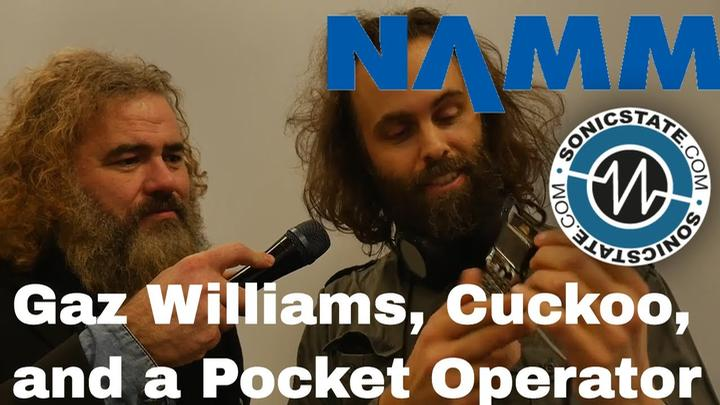 namm 2018  gaz williams and cuckoo with a pocket operators sampler