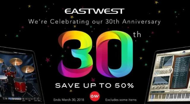 EastWest Announces 30th Anniversary Sale