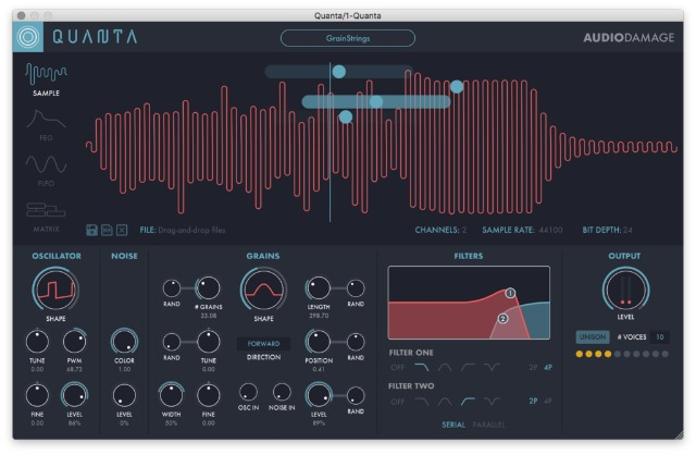 Quanta - A 10-Voice Granular Synthesizer