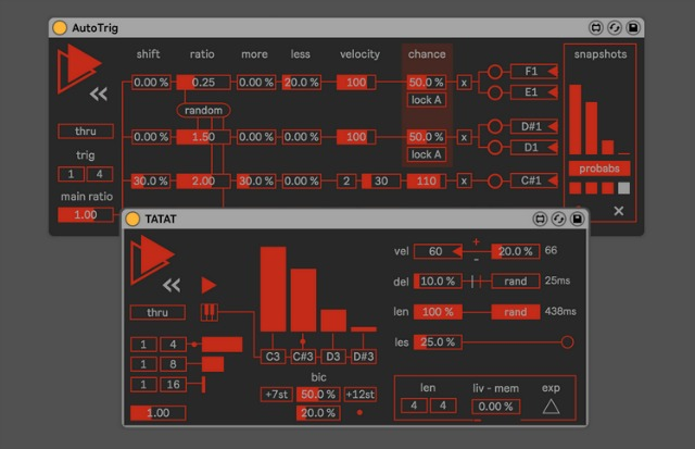 Multitrack Event Generators For Ableton Live