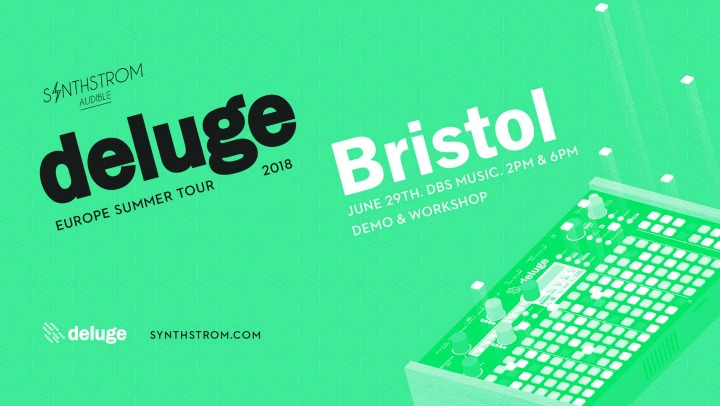 Synthstrom Deluge Visits dBs Music In Bristol For Public Outing