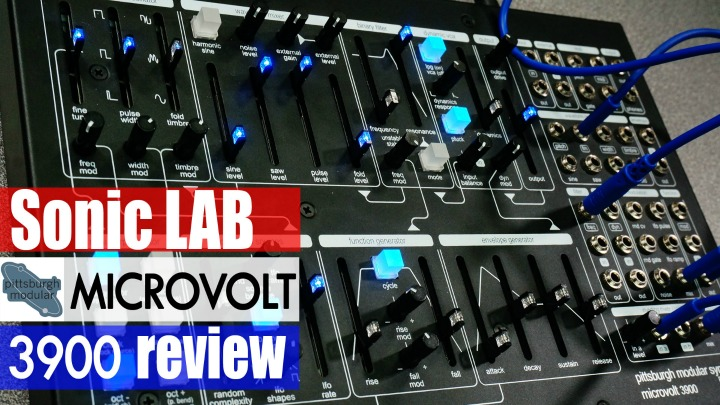 Sonic LAB: Pittsburgh Modular Microvolt 3900 Desktop Semi Modular Synth