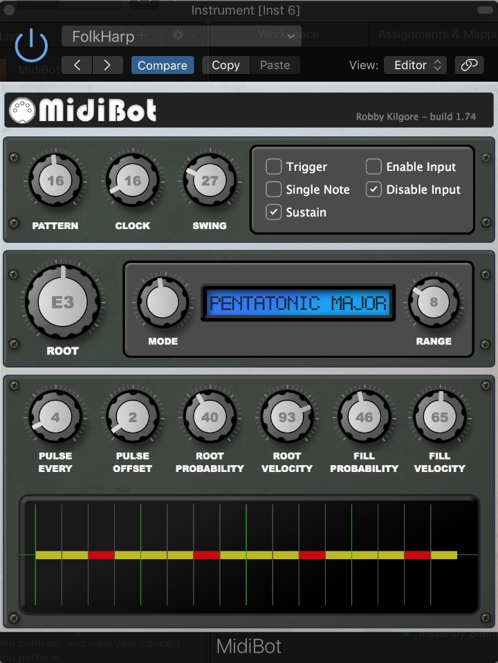 MIDIBot  Probability Engine For Rhythm and Melody