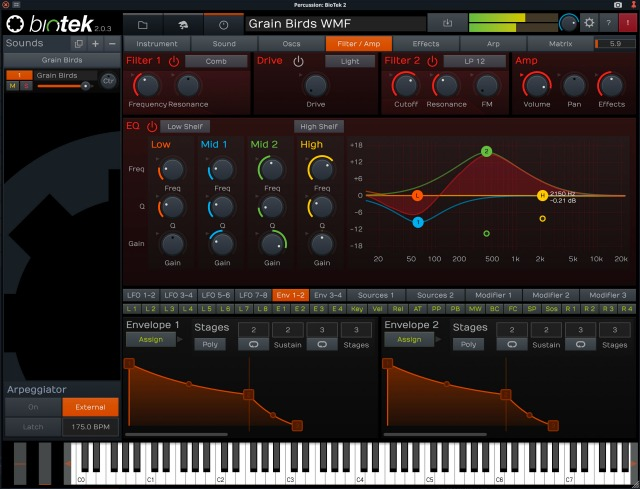 Tracktion Updates Biotek Synthesizer