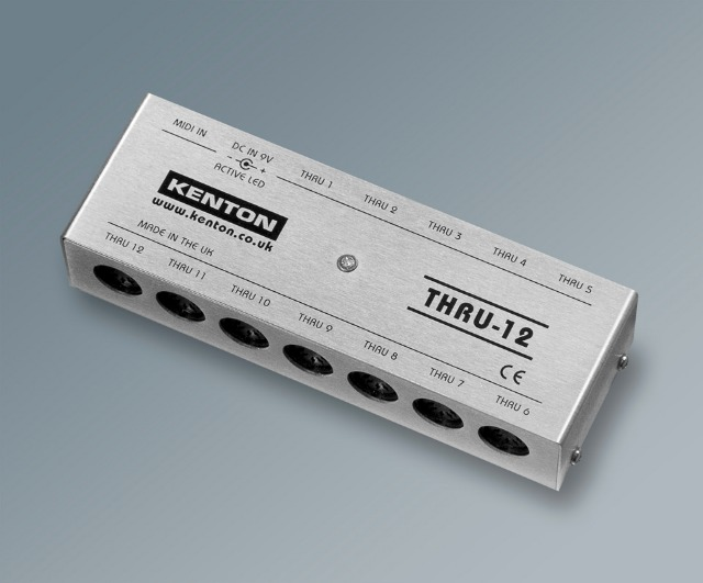 Kenton Releases Thru-12 MIDI Thru Box