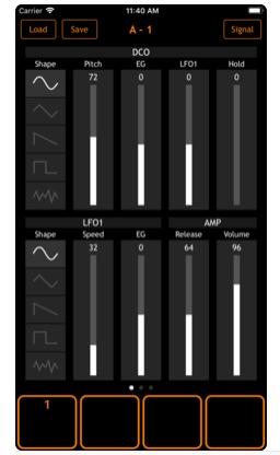 LCW-2 mono - A Free iOS Synth