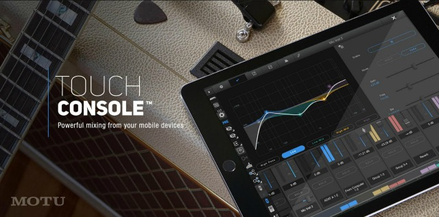 Touch Console For MOTU Audio Interfaces