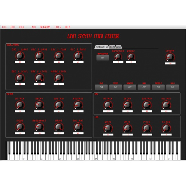 MIDI Editor For IK Multimedia UNO Synth