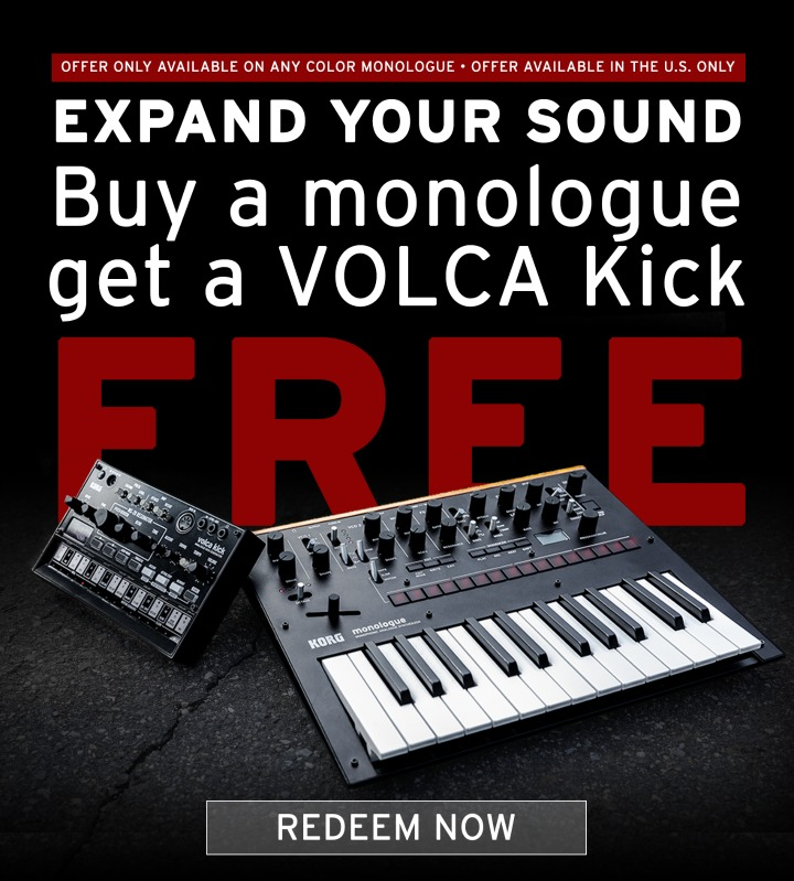 DEAL: Buy A Monologue Get A Volca Kick Free In September