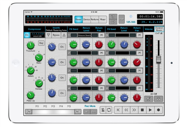 Reason iPad Controller App Updated