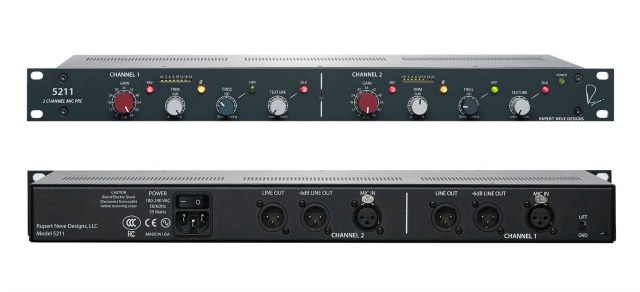 New Two-Channel Neve Mic Pre