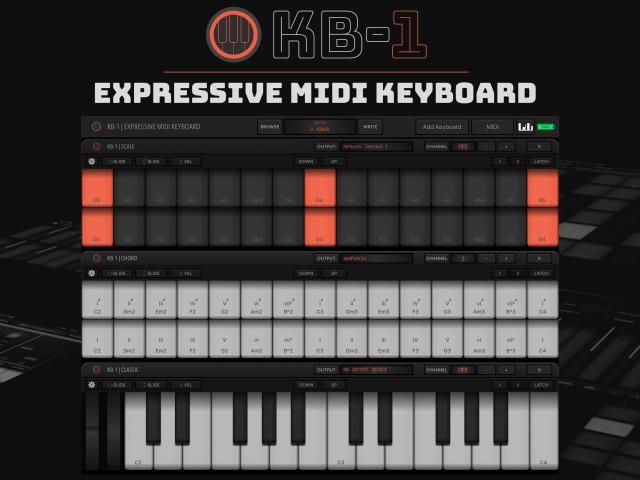 Virtual MPE Keyboard For iOS