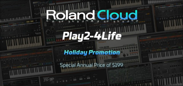 Roland Cloud Announces Holiday Promo