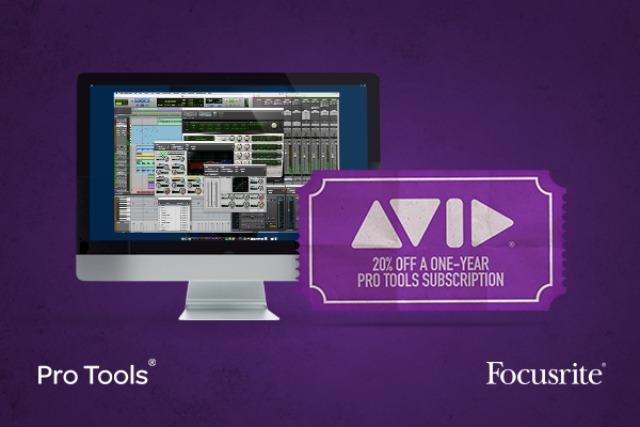 Focusrite Announces Exclusive Pro Tools Offer