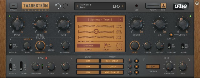 Spring Reverb Plug-In With Shakeable Springs