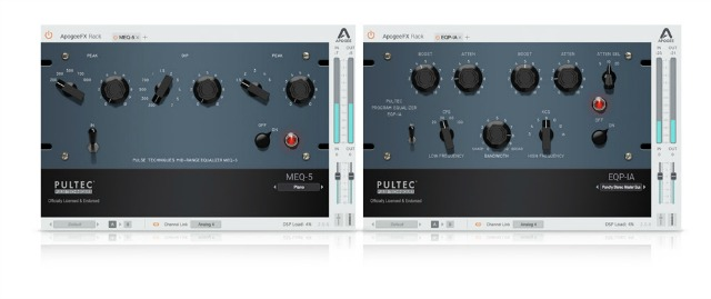 NAMM 2019: Apogee Expands FX Rack With Pulteq EQ