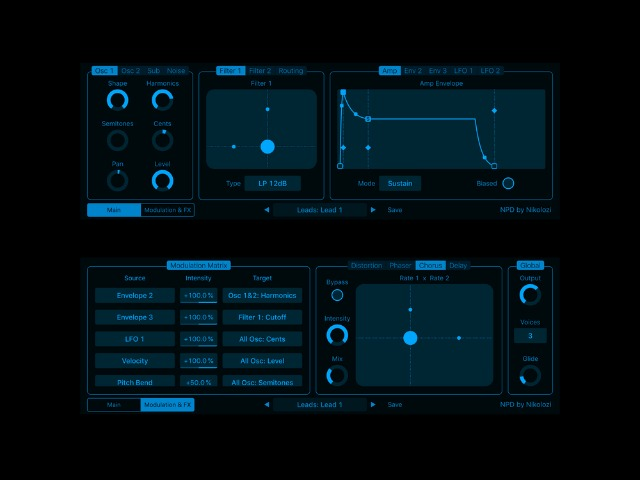 Phase Distortion Synth for iPad