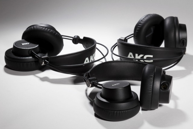 Foldable AKG Studio Headphones Ship