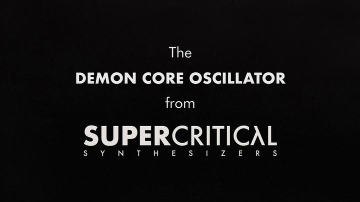 Supercritical Synthesizers Make Their Debut