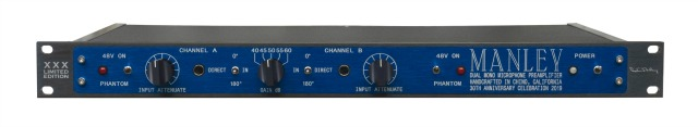 Manley Introduces 30th Anniversary Mic Preamp