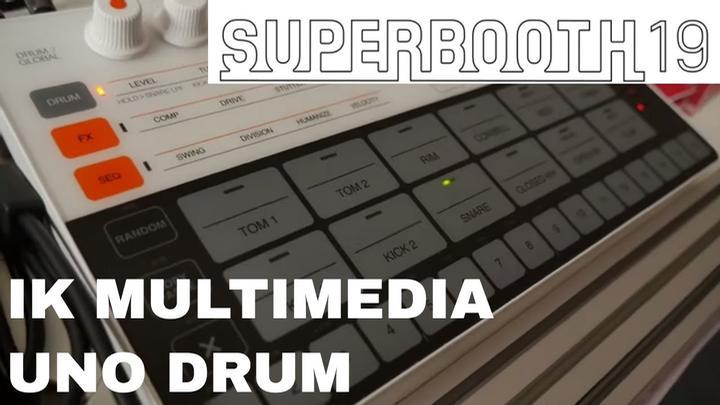 Superbooth 2019: IK Multimedia UNO Drum Machine