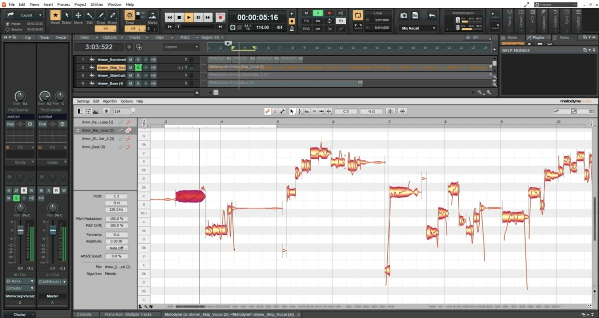 Melodyne Functionality In Cakewalk Improved