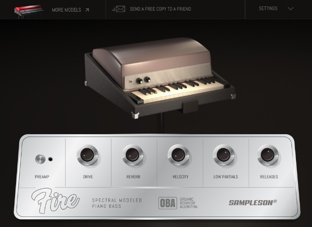Spectral Modeled Rhodes Piano Bass