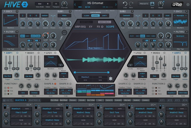 U-He Releases Hive 2.0 Synth