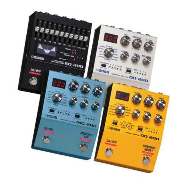 BOSS Introduces 200 Series Effect Pedals