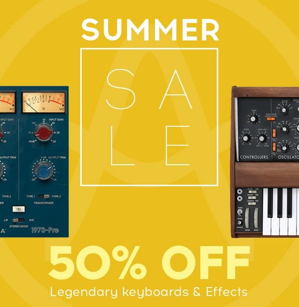Arturia Summer Sale  Saves 50%