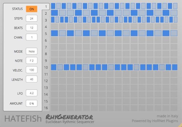 RhyGenerator - A Euclidean Step Sequencer