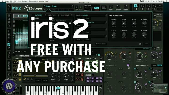 Wait - Free Iris 2 Synth With Any Purchase From Plug-in Boutique