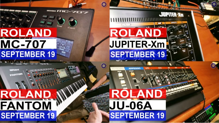 Roland New Stuff- Jupiter-Xm, MC-707, Fantoms and Boutique JU-06A