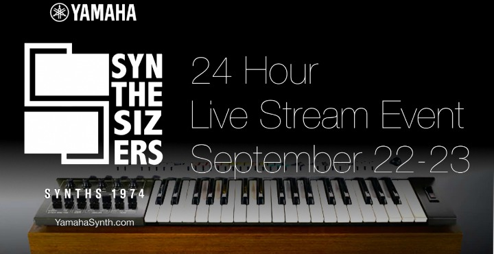 Yamaha Synthesizers 45 Years  -  Live 24hr Stream This Weekend