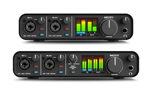 Two New MOTU USB Audio Interfaces
