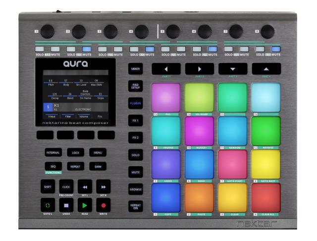 NAMM 2020: Nektar Announces AURA Beat Composer