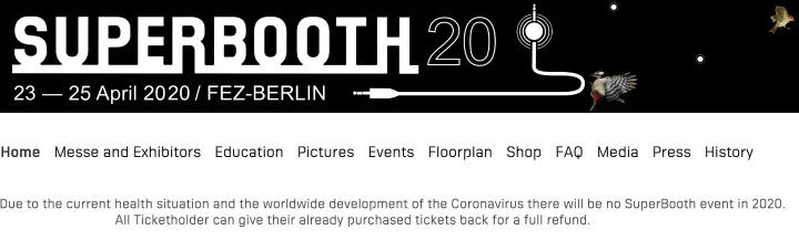 Superbooth 2020 Cancelled